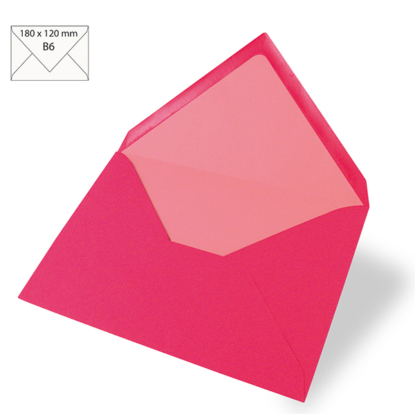 Enveloppe B6 – rose vif