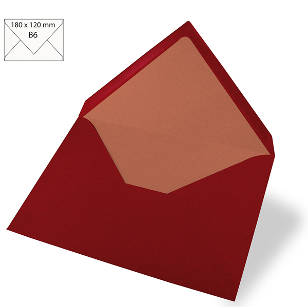 Briefumschlag B6 [ 5 Stück ] – bordeauxrot