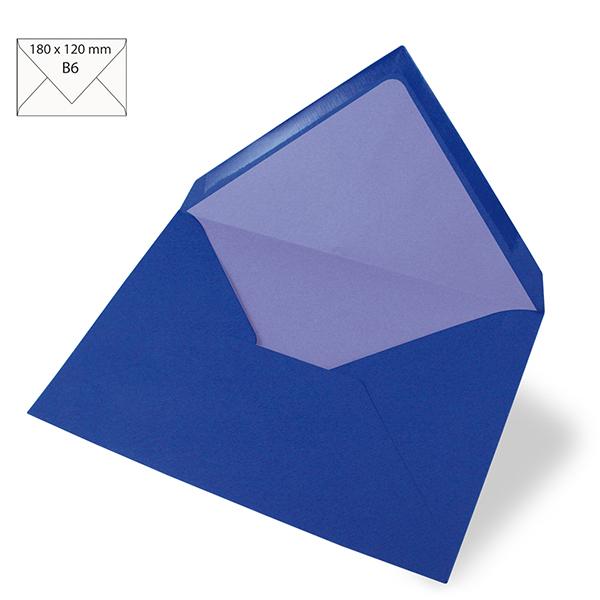 Enveloppe B6 – bleu roi
