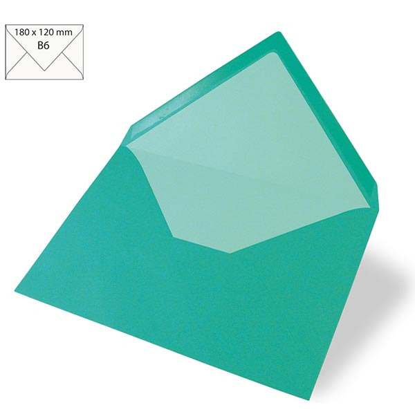 Enveloppe B6 – turquoise