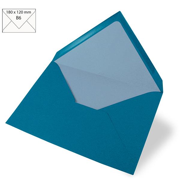 Enveloppe B6 – bleu turquoise