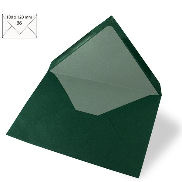 Enveloppe B6 – vert foncé