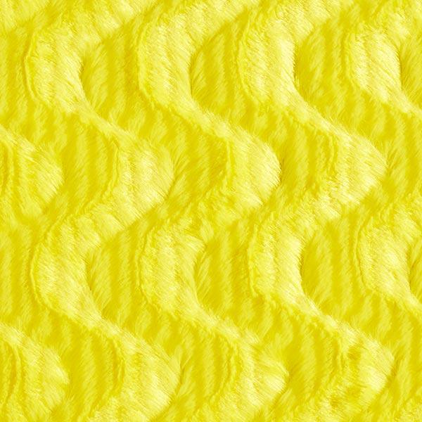 Fourrure synthétique Tourbillon – jaune fluo