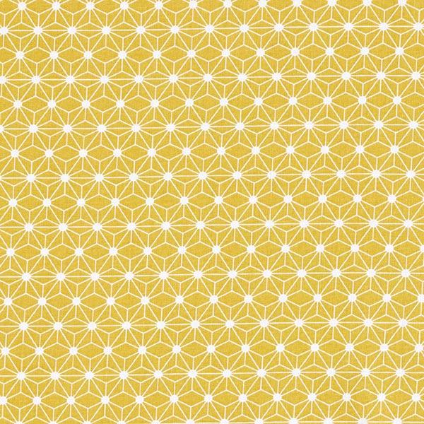 Tissu en coton Cretonne Petite étoile graphique – moutarde
