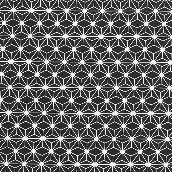 Cretonne de coton petites étoiles graphiques – noir