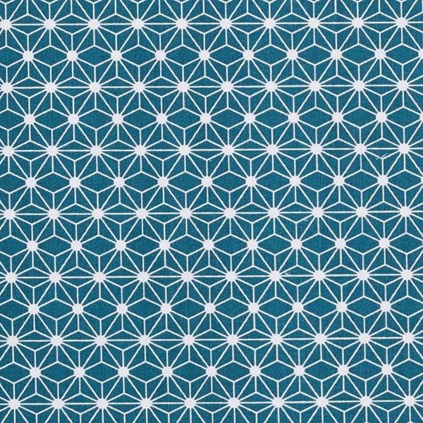 Cretonne de coton petites étoiles graphiques – pétrole