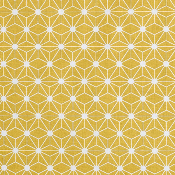 Baumwollstoff Cretonne Grafischer Stern – senf