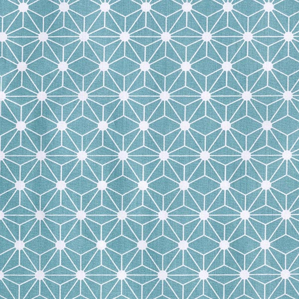Baumwollstoff Cretonne Grafischer Stern – türkis