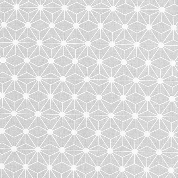 Tissu en coton cretonne Étoile graphique – gris clair