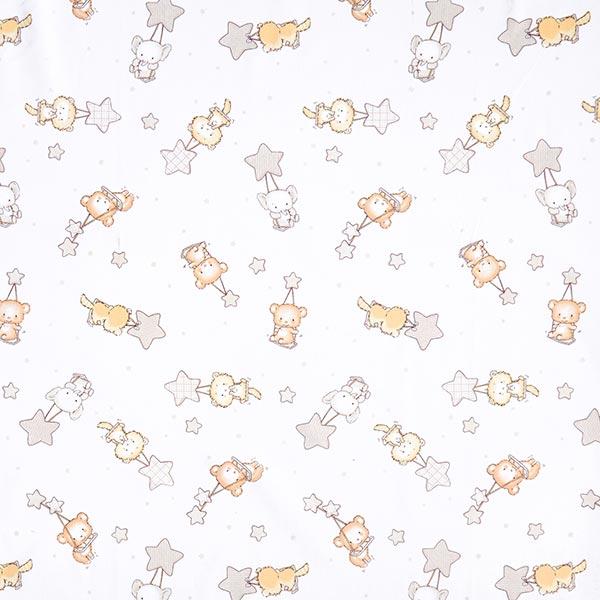 Tissu en coton Cretonne  Balançoire des étoiles – gris clair