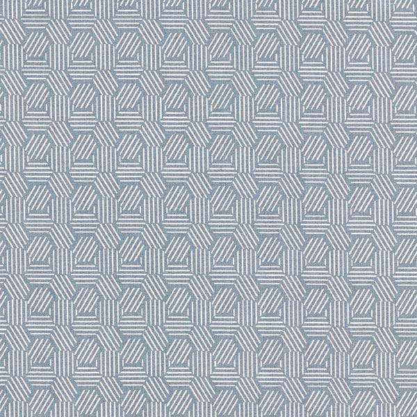 Tissu en coton Cretonne Alvéoles graphiques – gris