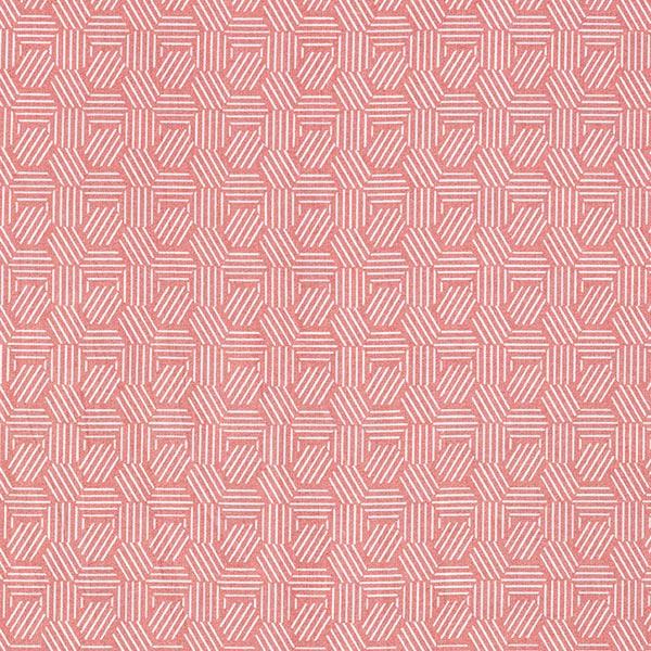 Tissu en coton Cretonne Alvéoles graphiques – terre cuite