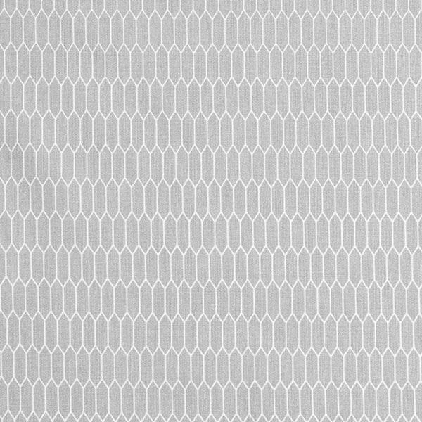 Baumwollstoff Cretonne kleine Waben – grau