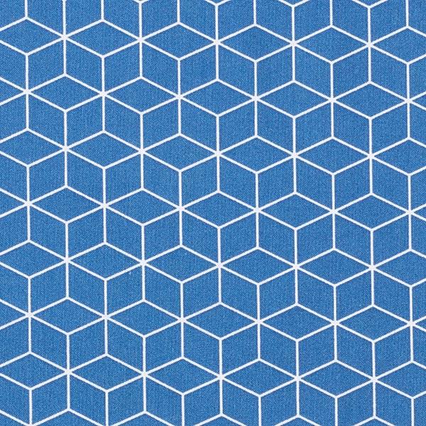 Tissu en coton Cretonne Cube – bleu marine