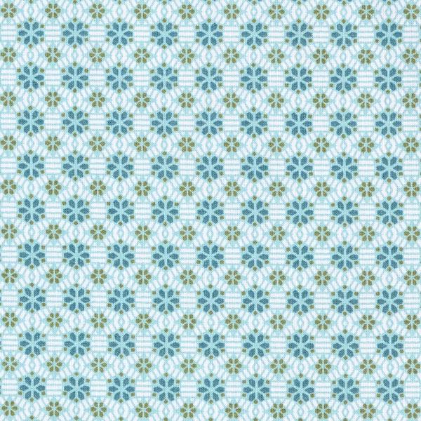 Tissu en coton cretonne Kaléidoscope – vert menthe