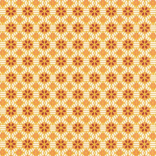 Tissu en coton cretonne Kaléidoscope – moutarde