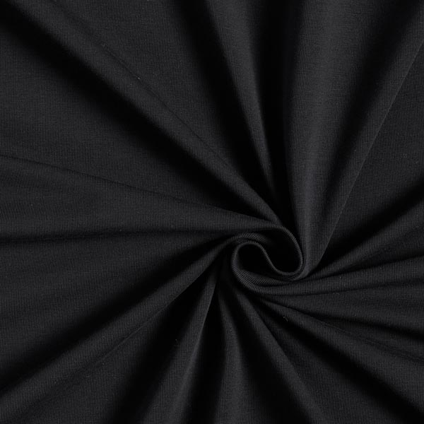 Tula Baumwolljersey GOTS – schwarz