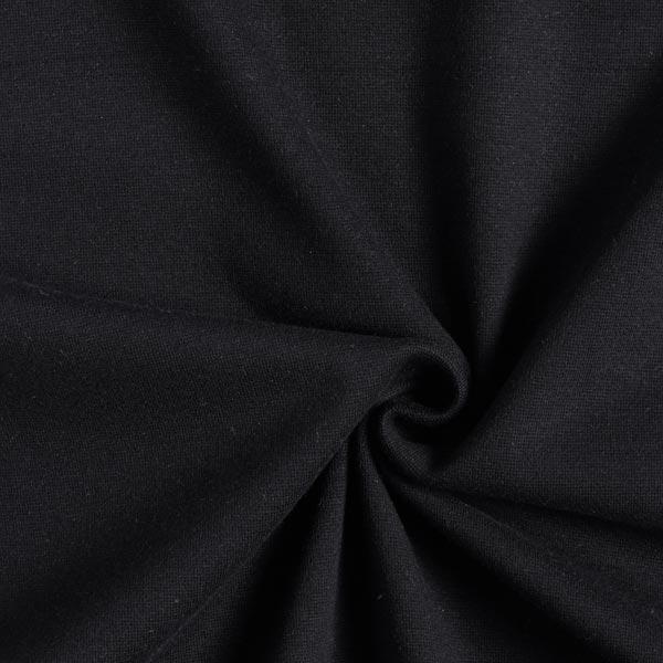 Tula Bord-côtes coton GOTS – noir