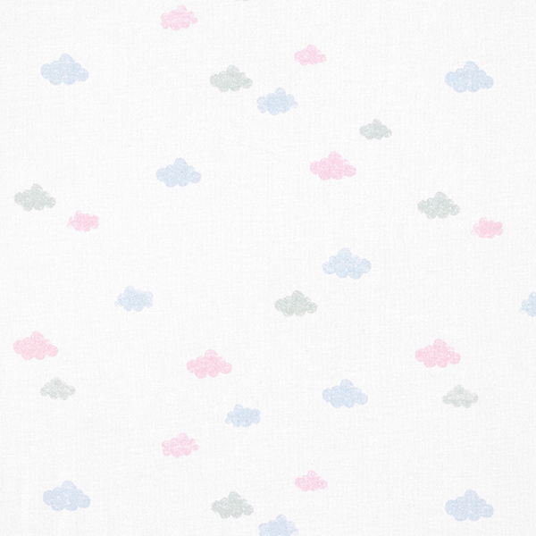 Tula Baumwolljersey Wolken Stempeloptik GOTS – weiss