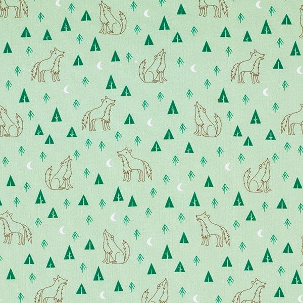 Tula Kids Baumwolle Sweatshirt Wolf GOTS – pastellgrün
