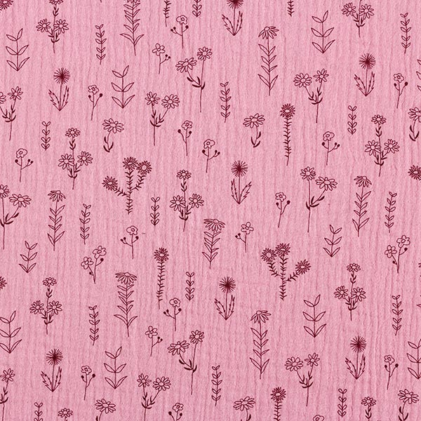 Tula Musselin/ Doppel-Krinkel Gewebe GOTS Pflanzen – rosa