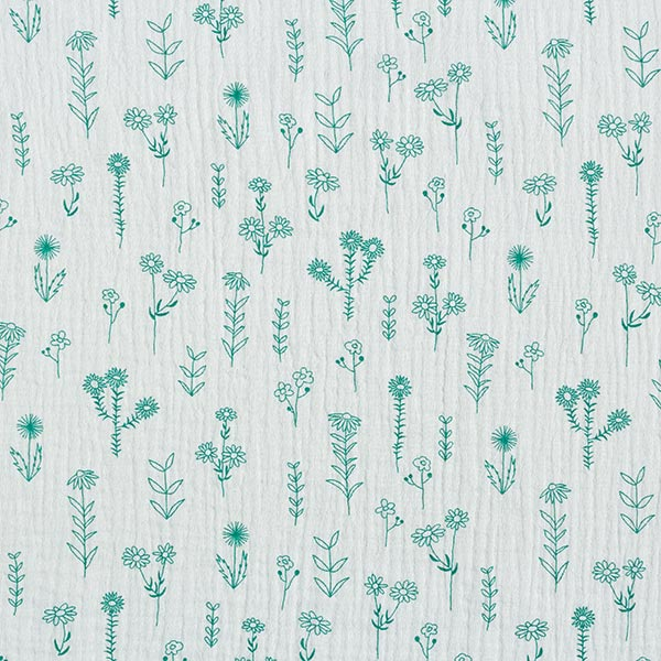 Tula Musselin/ Doppel-Krinkel Gewebe GOTS Pflanzen – pastellgrün
