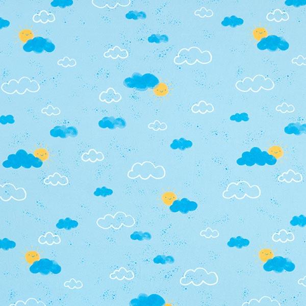 Tula Baumwolljersey GOTS Aquarell Wolken – babyblau