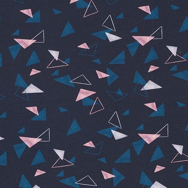 Tula Jersey coton Triangles GOTS – bleu nuit