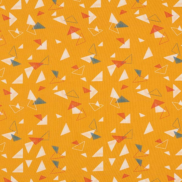 Tula Jersey coton Triangles GOTS – jaune curry