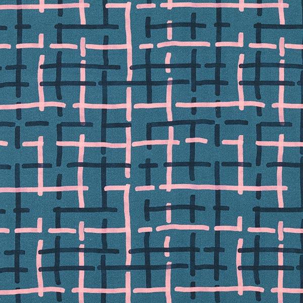 Tula Jersey coton Carreaux GOTS – pétrole légère