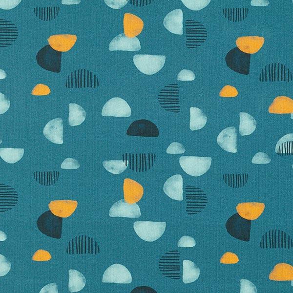Tula Jersey coton Demi-cercles GOTS – pétrole légère