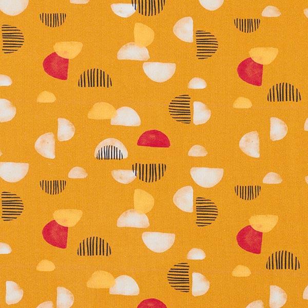 Tula Jersey coton Demi-cercles GOTS – jaune curry