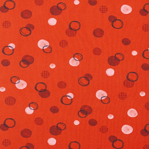 Tula Jersey coton Points GOTS – terre cuite