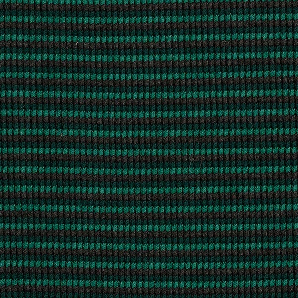 Tissu maille double côte rayures – vert