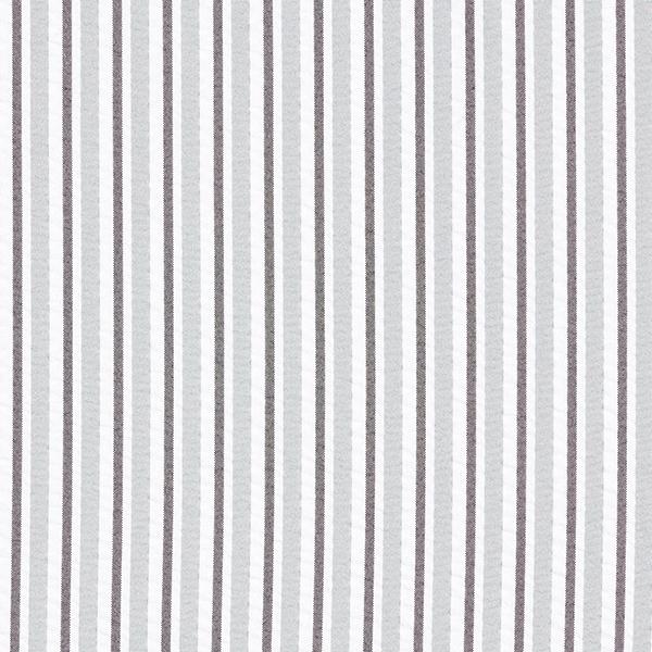 Tissu pour chemisier Seersucker Rayures verticales – gris/blanc