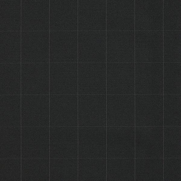 Tissu pour costume Stretch Mélange laine vierge Motif carreaux fin – noir