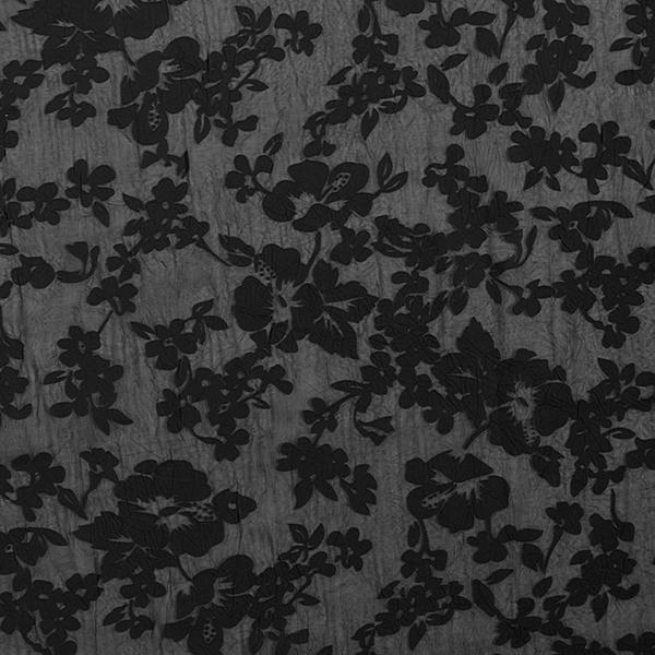 Feiner Krinkelstoff Ausbrenner-Muster – schwarz