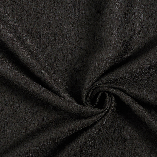 Jacquard d'habillement Cloqué Motif Paisley – noir