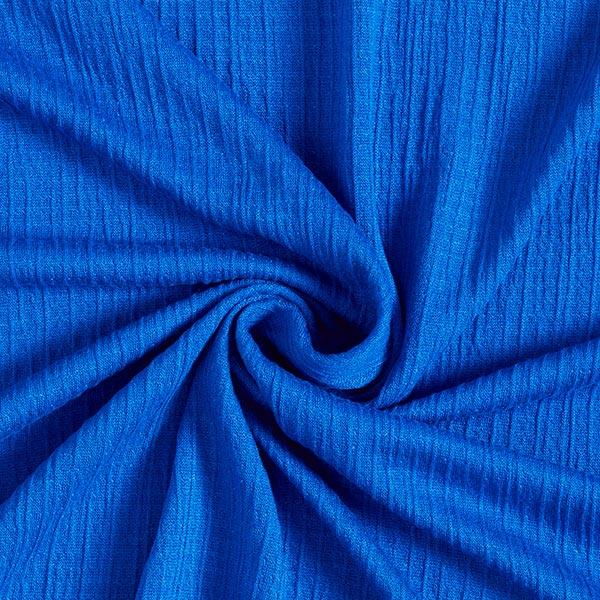 Jersey Seersucker Optik – königsblau