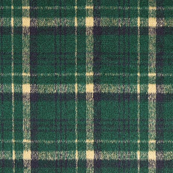 Tissu pour manteau Mélange laine vierge à carreaux – vert foncé/beige