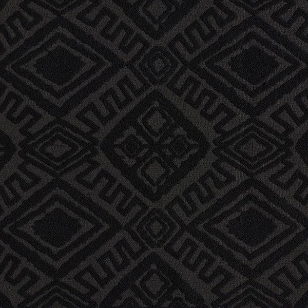 Bekleidungsjacquard Ethno-Rauten – schwarz