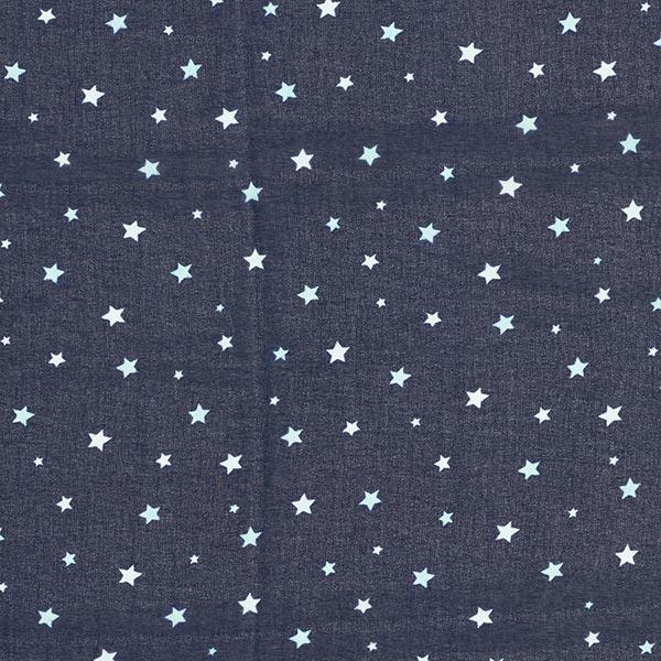 Chiffon Sternenhimmel – marineblau/weiss