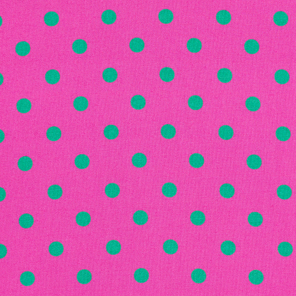 Tissu fin en viscose Points [1 cm] – violet/vert herbe