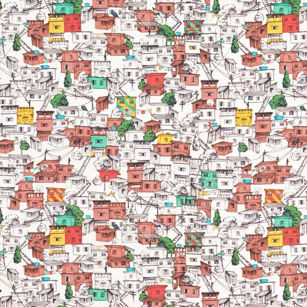 Tissus polaires Labyrinthe de maisons