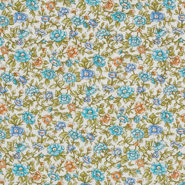 Twill Blütenmeer – blau/grün