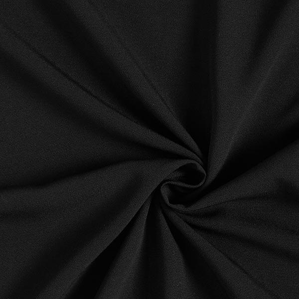 Tissu pour chemisier Crêpe viscose Uni – noir