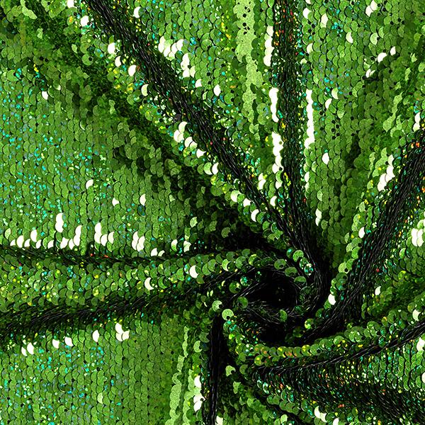 Jersey Wendepailletten Meerjungfrauen-Schuppen – grasgrün/schwarz