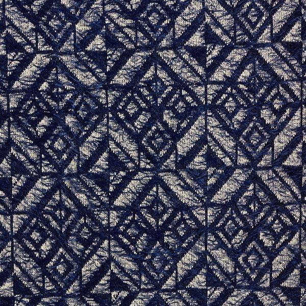 Tricot fin Motif losanges aspect angora – bleu marine