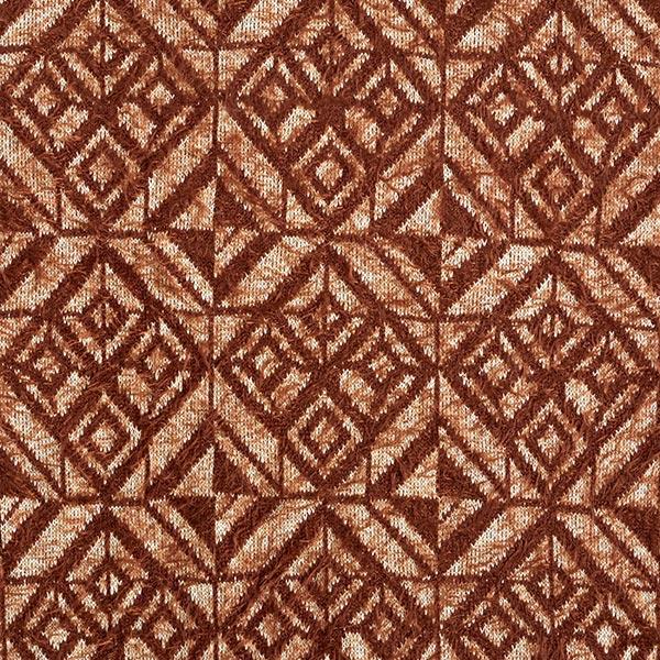 Tricot fin Motif losanges aspect angora – marron