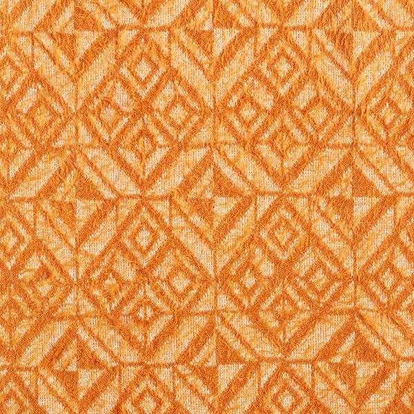 Tricot fin Motif losanges aspect angora – orange